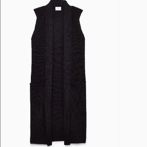 Aritzia Black Vest Cardigan
